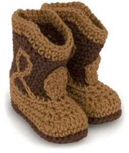 crochet cowboy boots! must have a pair in EVERY COLOR imaginable for my lil munchkin. her feet will be warm and cuddly and cuter than your run of the mill booties.