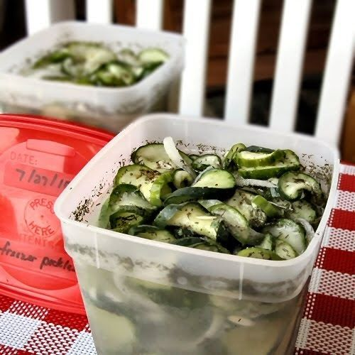The Other Side of Fifty: Dill And Garlic Freezer Pickles