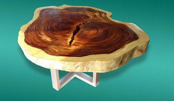 Live Edge Coffee Table Acacia Wood Live Edge Reclaimed by flowbkk