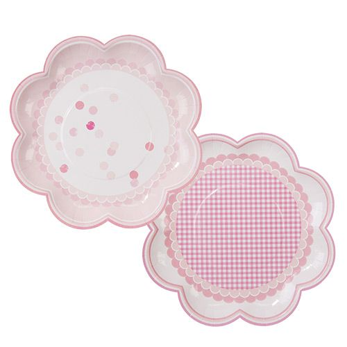 Party Ark's 'Perfect Pink Spotty & Gingham Party Plates'