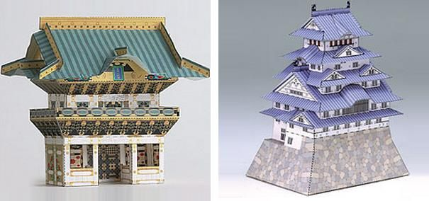 World Heritage Japanese Architectural Paper Models - by Kids Net  ==   Here are five paper models of Japanese Classic Buildings that are considered World Heritage Sites, by Unesco. Models by Kids Net website.
