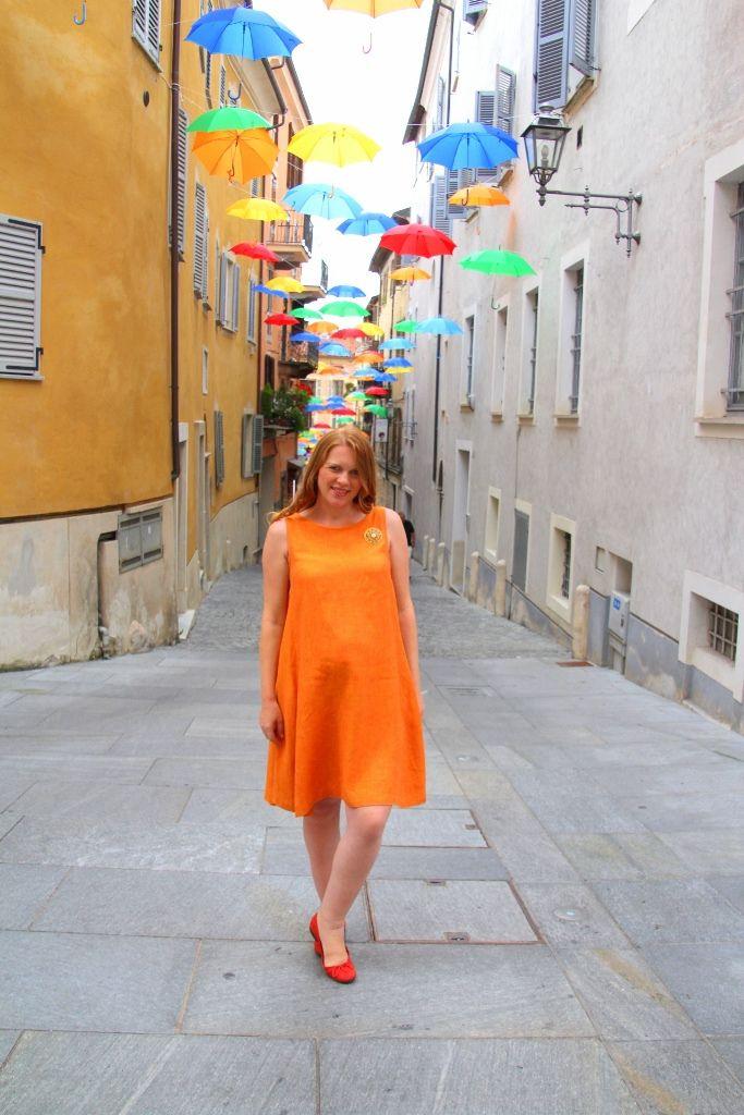 Linen maternity dress for hot summer