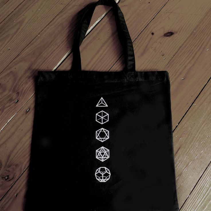 Platonic Solids Sacred Geometry Tote, $15.00 by Trances and Portents