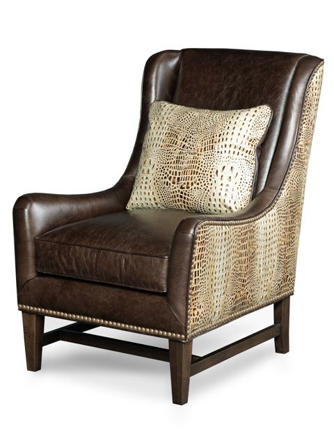 macallister chair by showing off barbarossa leathers hornback pattern