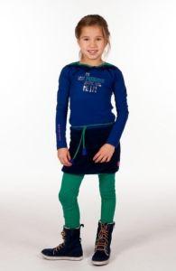 Kiezeltje meisjes jurk teddy kobalt. Deze jurk is direct leverbaar - Kinderkleding.nl
