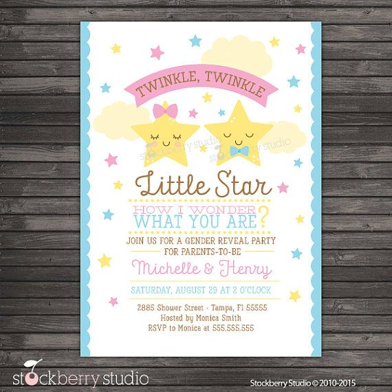 Baby Shower Reveal Party: Gender Reveal Party Invitation Printable