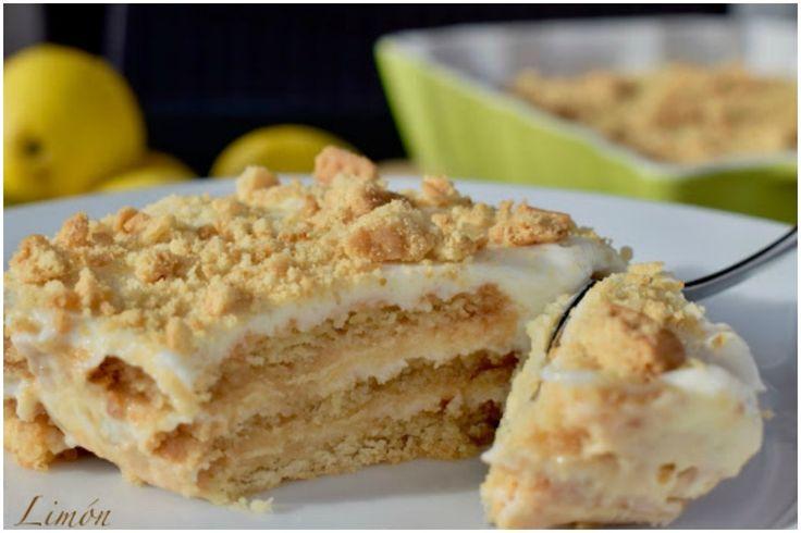 Cremosa tarta de limón con galletas trituradas; sin horno y con pocos ingredientes! – En el Punto
