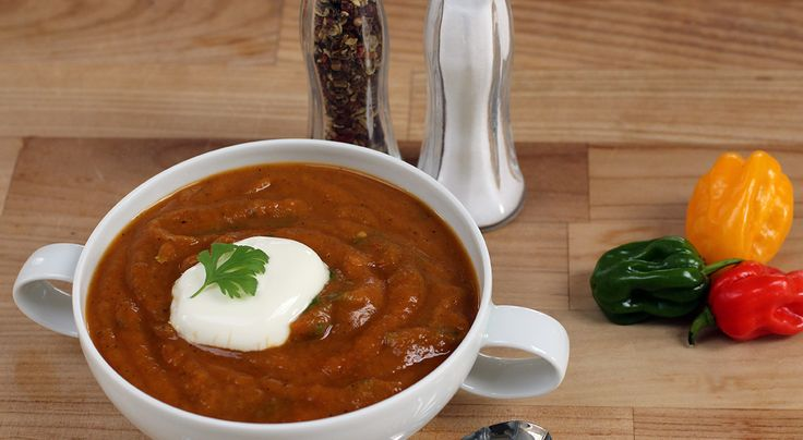 187 calories This soup is lovely and thick. Intensely warming and satisfying. If you want to make this soup even more quickly, microwave the chopped butternut squash for 5 minutes in a covered, mic...