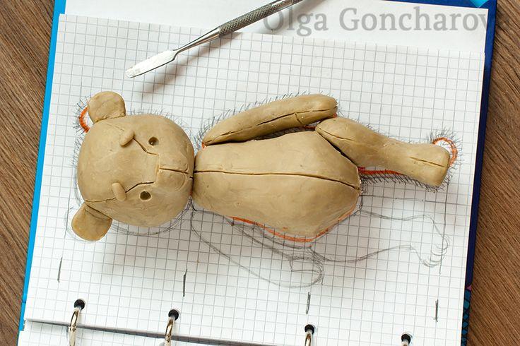 Мастер-класс Ольги Гончаровой: Выкройка мишки тедди с нуля / How to make a teddy…