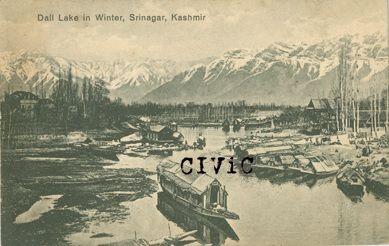 Dal Lake in Winter, Srinagar, Kashmir