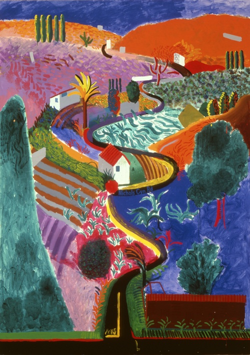 #DavidHockney, 'Nichols Canyon', 1980. Acrylic on canvas. 213.4 x 152.4 cm. Private collection.