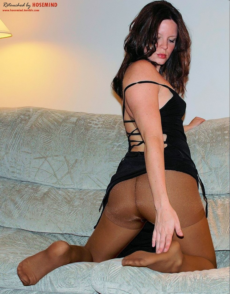 DAT ASSES leggs control top pantyhose tasty big