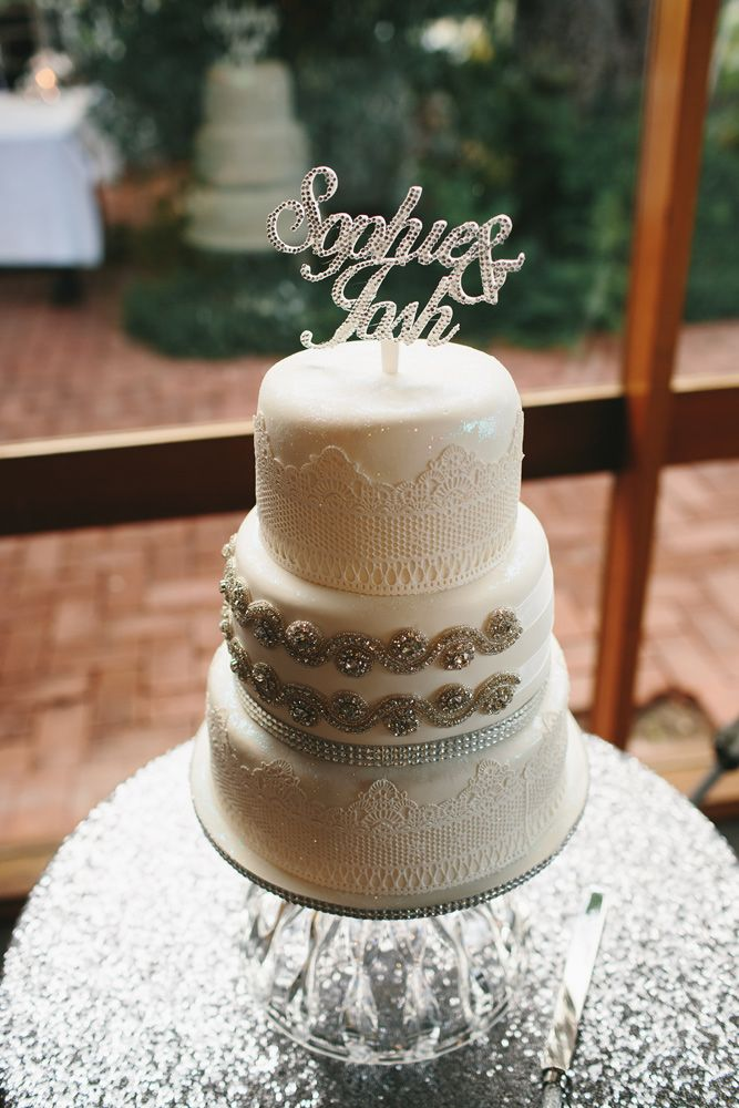 Loving our blingy cake topper...