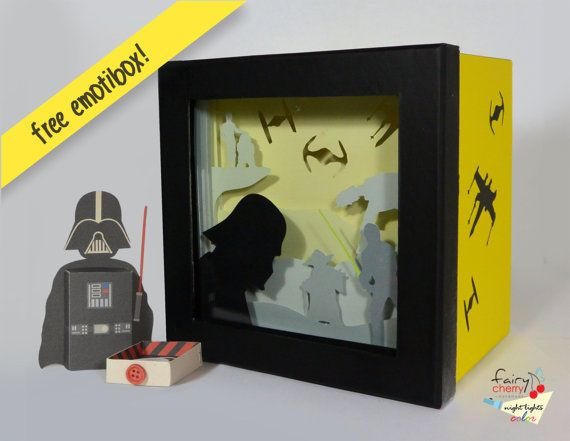 Star Wars shadow box night light Special night by FairyCherry