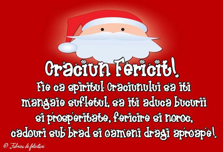 Fie ca spiritul Crăciunului să iți mângăie sufletul, să iți aducă bucurii și prosperitate, fericire și noroc, cadouri sub brad și oameni dragi aproape!