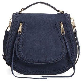 Rebecca Minkoff Vanity Saddle Dark Navy Handbag