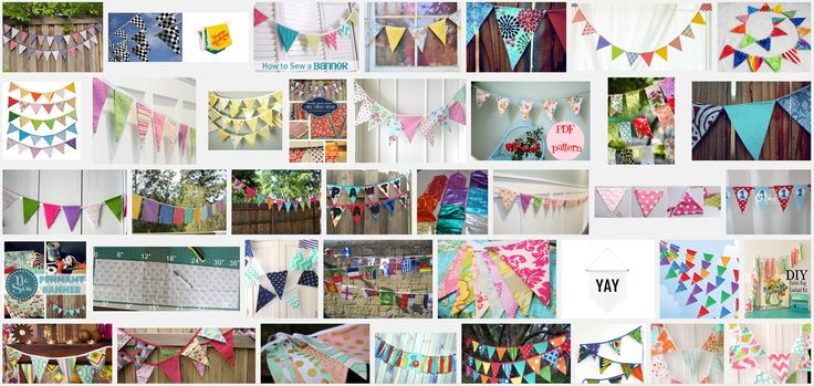 Vlaggetjes slinger maken en versieren als je binnenkort een feestje organiseert. Maak dan met de kinderen van tevoren de slingers. Je kan ook de vlaggetjes