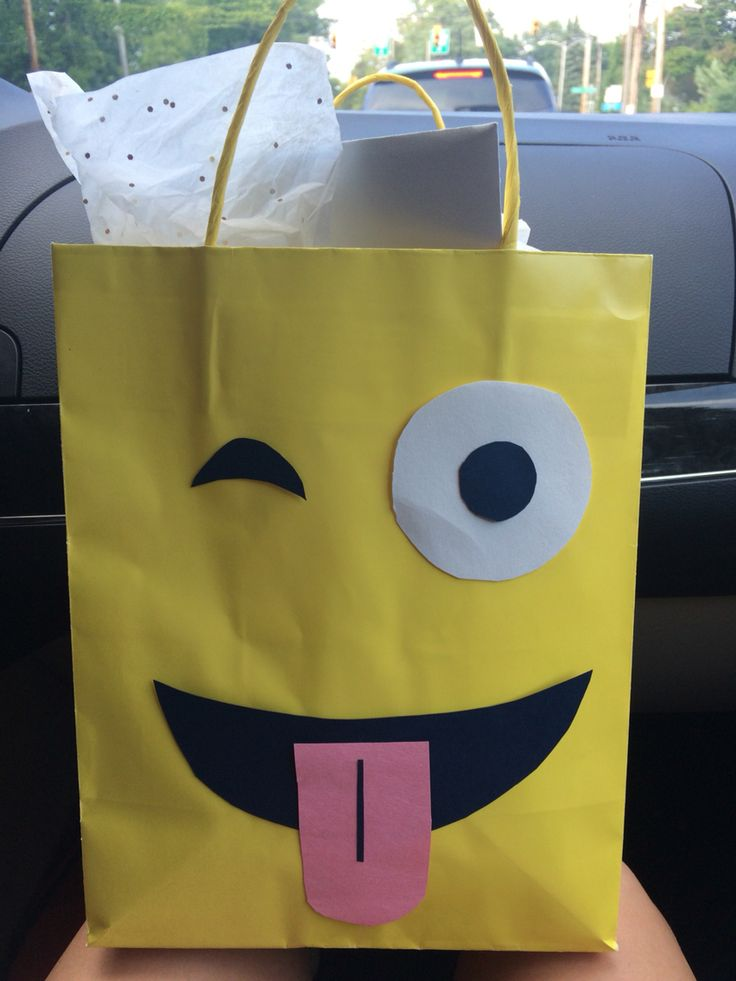 Diy Emoji Gift Bag Tarjetes I Regals Diy Party Bags
