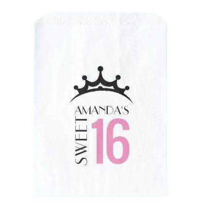 Princess Sweet 16 Thank You Favor Candy Bar Buffet Favor Bag - script gifts template templates diy customize personalize special
