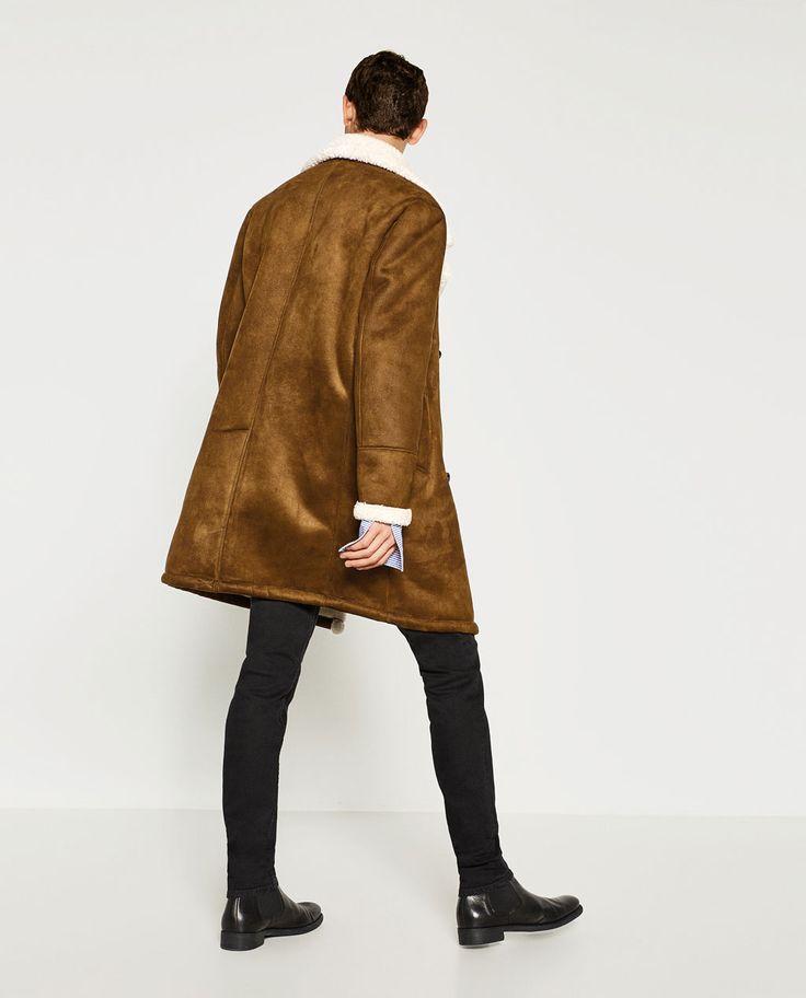Manteau femme beige camel zara