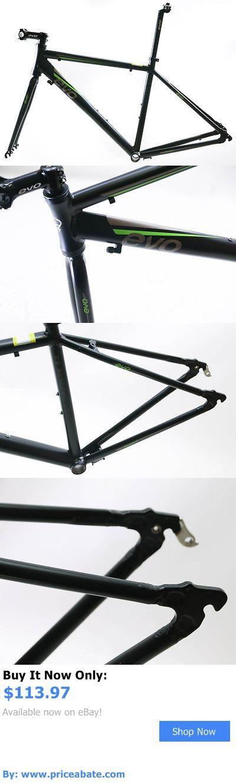 bicycle parts: Evo Vantage 5.0 52Cm Medium Aluminum Road Bike Frameset Fork + Extras Black New BUY IT NOW ONLY: $113.97 #priceabatebicycleparts OR #priceabate
