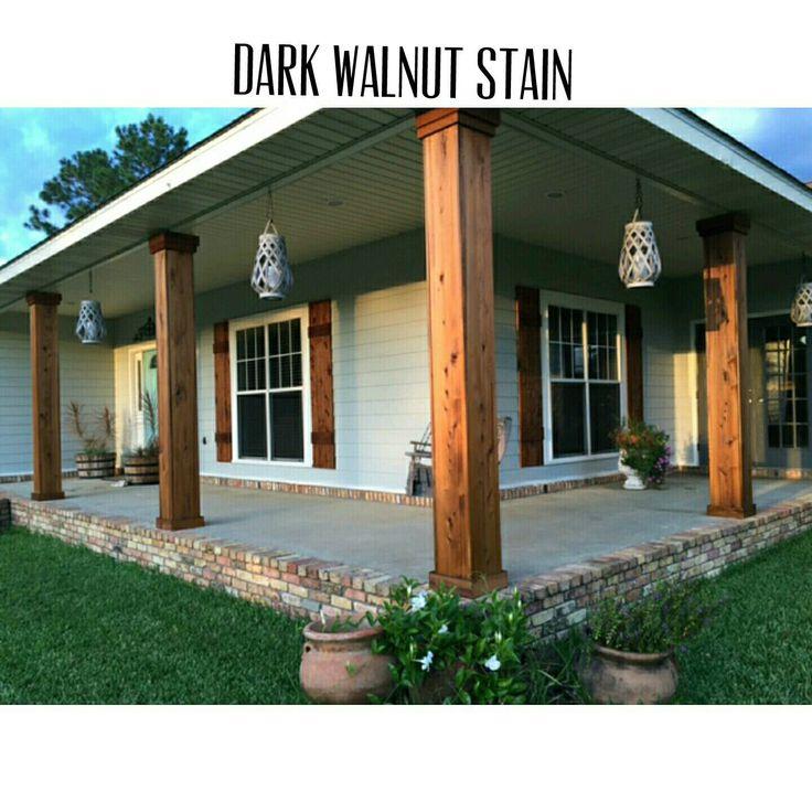 Best 25 cedar stain ideas on pinterest outdoor wood for Cypress porch columns