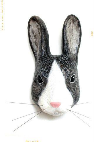 Little Grey Rabbit Paper Mache Mount – Fleur + Dot
