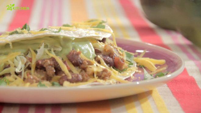 Chili Tacos com Molho de Abacate - Prato do Dia 2 | 24Kitchen