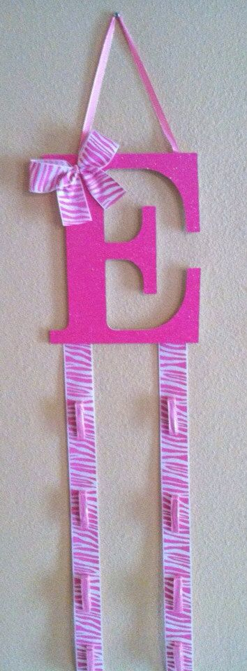 Initial Bow Holder/Cheer by TripleEembroidery on Etsy, $20.00