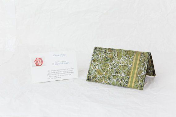 Green Credit Card Holder Kimono Credit Card holder by KimonoTango