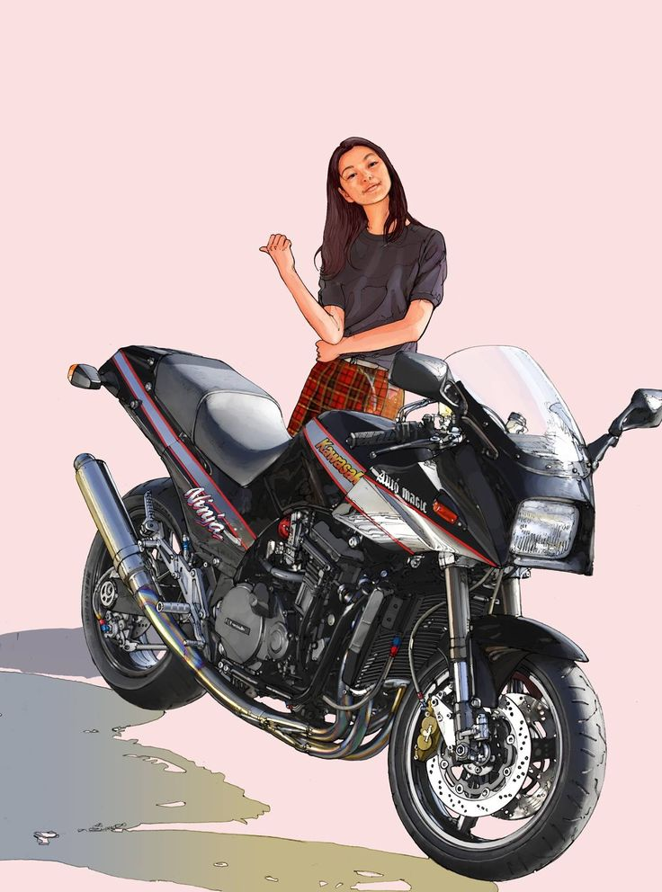 рисунки на мотоциклах фото