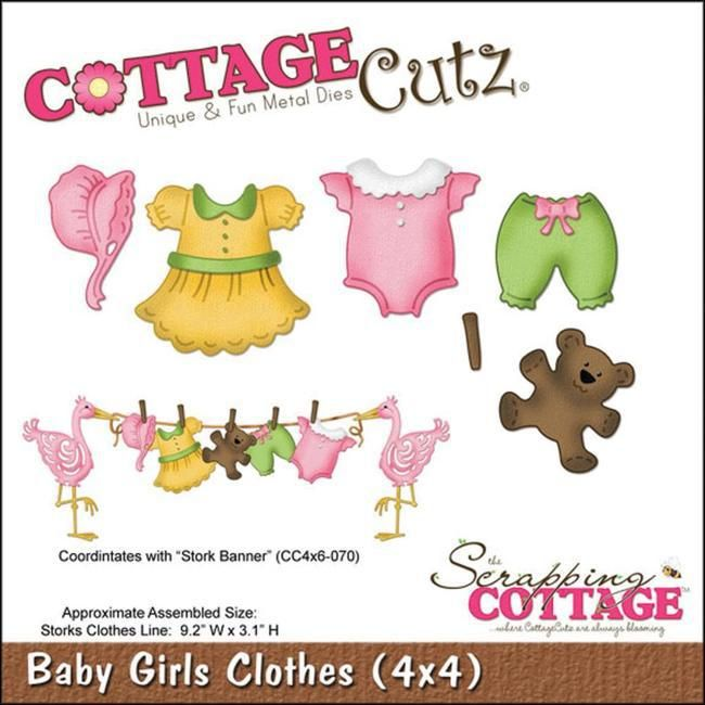 Cottage Cutz Die - Baby Girl Clothes - Scrapbooking Made Simple