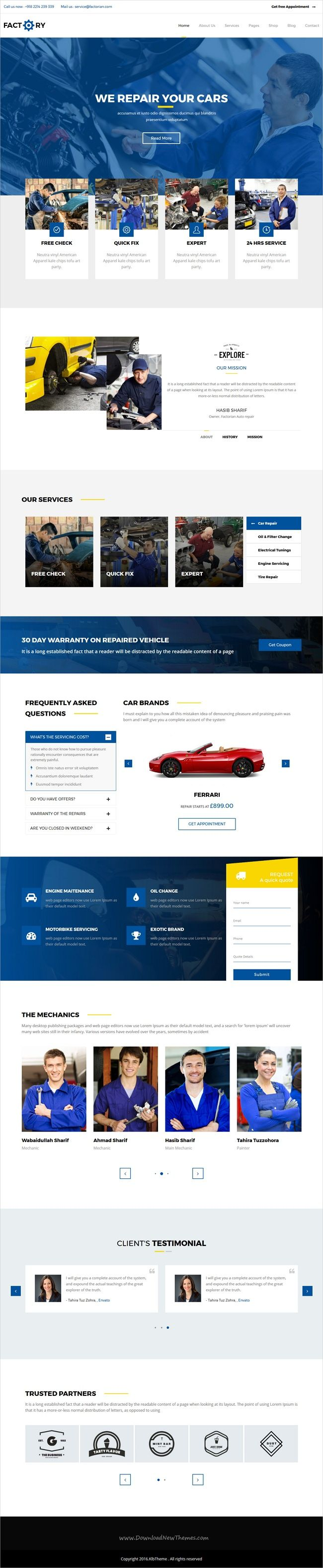 Factorian is a wonderful 5in1 responsive #WordPress theme for #auto #workshop #repair service websites download now➩ https://themeforest.net/item/factorian-responsive-multipurpose-business-wordpress-theme/18968629?ref=Datasata