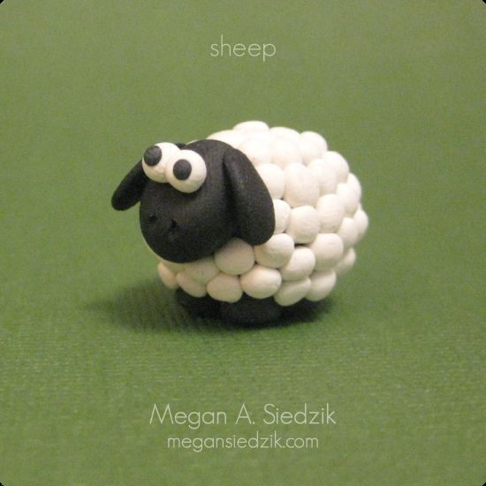 polymer+clay+animals | Polymer Clay Sheep | Flickr - Photo Sharing!