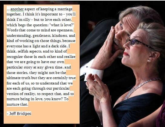 Jeff Bridges poignant words about his wife today on Reddit AMA. So beautiful.