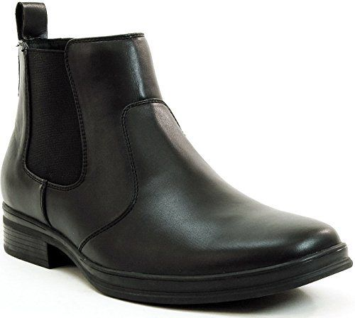 Alpine Swiss Mens Chelsea Boots Suede Lined Pull On Ankle Shoes Black 9 M US - http://authenticboots.com/alpine-swiss-mens-chelsea-boots-suede-lined-pull-on-ankle-shoes-black-9-m-us/