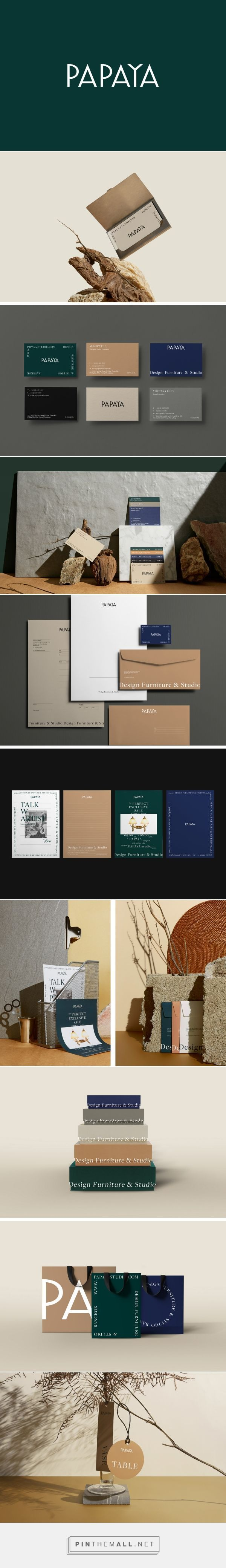 Branding for Thailand's largest museum-like antique store, Papaya. Created by ...