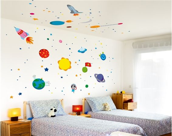 Nice Space Kids And Babies Wall Stickers   By Bumoon Made In France