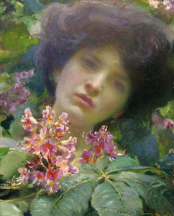 11741155_10153024308397151_3340066021292823158_o.jpg Frantisek (Franz) Dvorak (Czech painter) 1862 – 1927 Honeysuckle, s.d. oil on canvas  15¼ x 12 in. (38.7 x 30.7 cm.) (774×960)