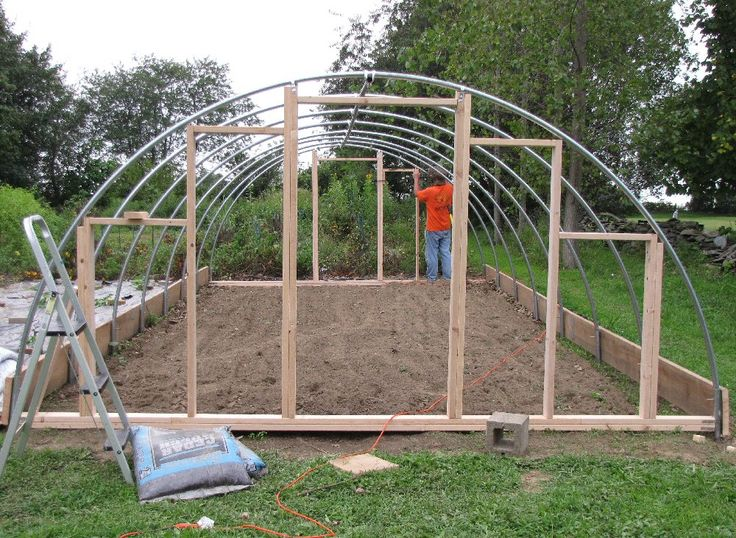 The knittin 39 kitten garden construction project building for Garden greenhouse design