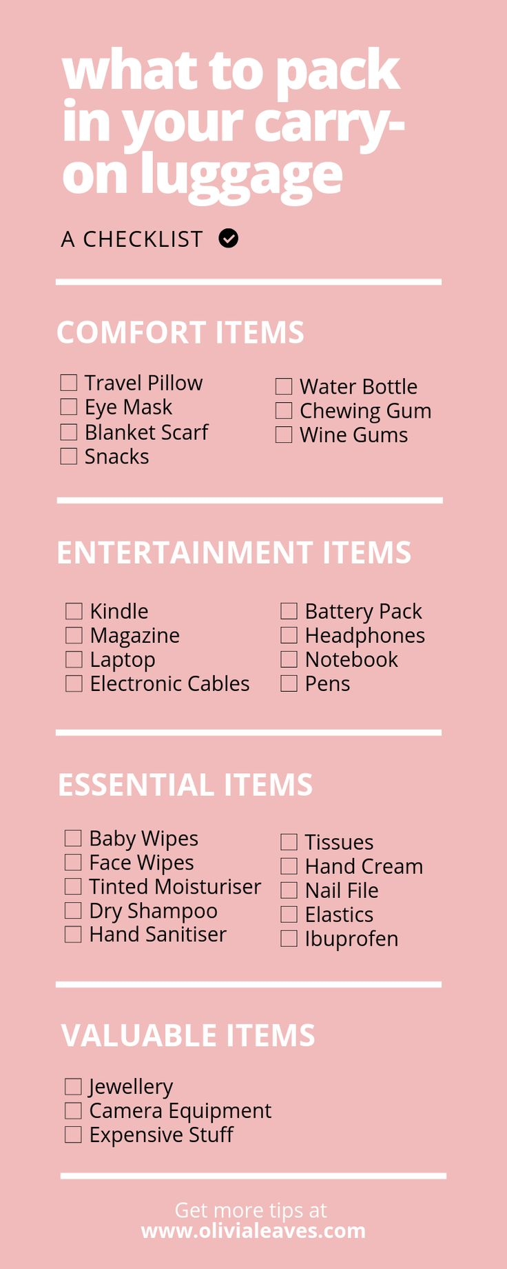 What should you pack in your carry-on luggage? Her…