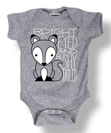 Love this Heather Gray 'Bushy Tailed' Fox Bodysuit - Infant on #zulily! #zulilyfinds