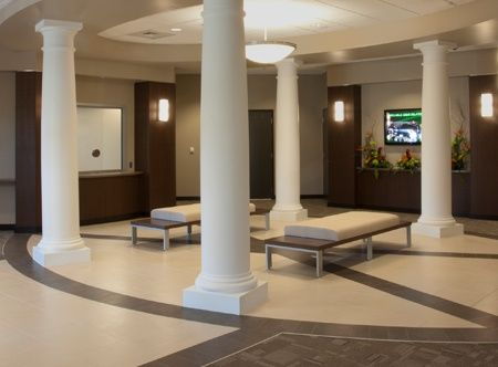 Artopex benches make an elegant statement at the Snellville Police Station.