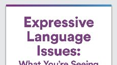 Graphic of Expressive Language Issues: What You're Seeing