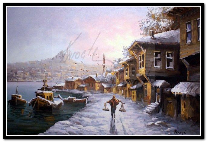 yağlıboya kış tabloları - Google Search