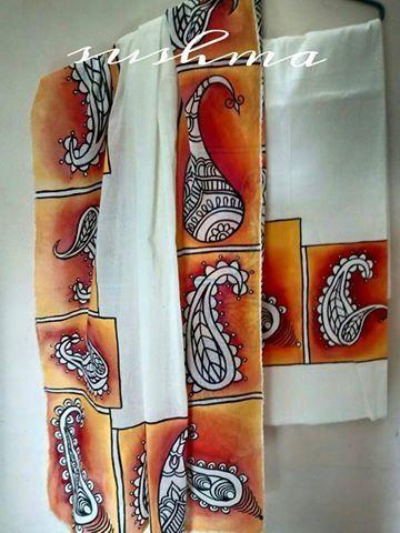 Handpainted  design dress