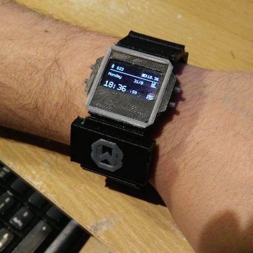 Watchduino is an open source avr based smartwatch