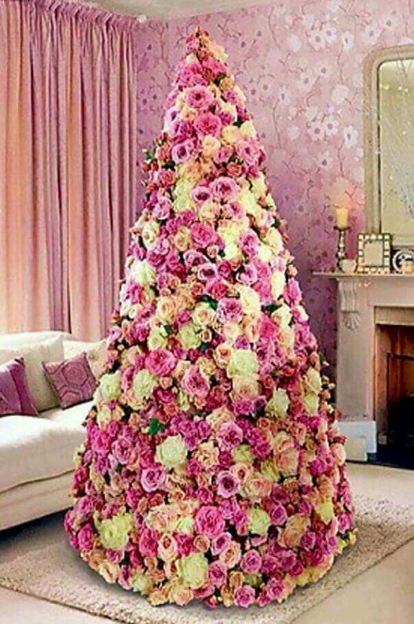 paper flowers tree for dior - Pink Christmas Trees