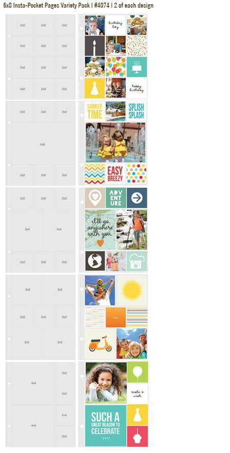 Simple Stories Instapockets variety pack