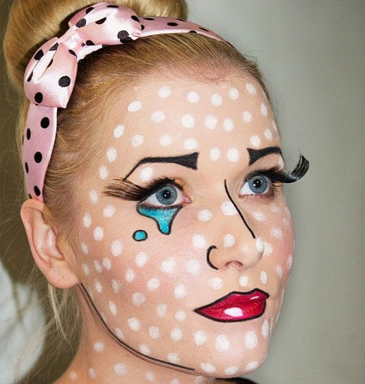 Halloween make-up ideas: The Pop Art how-to